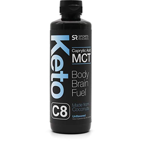 Keto MCT Oil c8 (Caprylic Acid) Made from Non-GMO Coconuts ~ Fuel for The Body & Mind ~ Keto & Paleo Diet Friendly, Gluten & Dairy Free (16oz Leak Proof Squeeze Bottle)