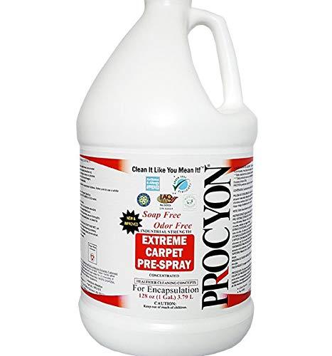 4 Each- 1 Case- 128 oz. Bottles - Soap Free PROCYON EXTREME! Carpet Pre - Spray Concentrate