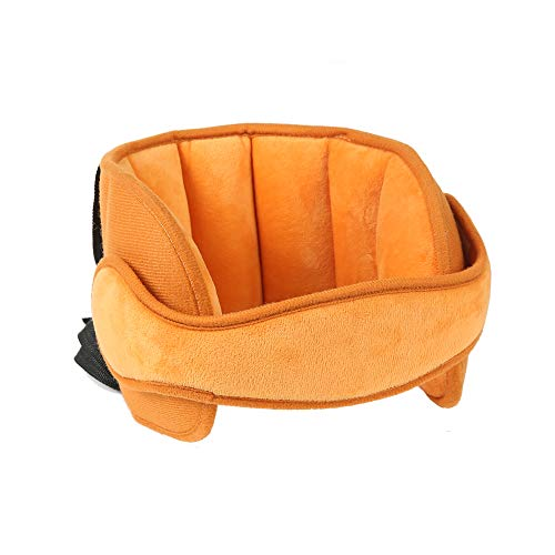 StoHua Adjustable Child Car Seat Head Support - Toddler Carseat Head Neck Pillow Strap, Kids Safety Neck Relief Head Support Band Sleep Strap, Brown