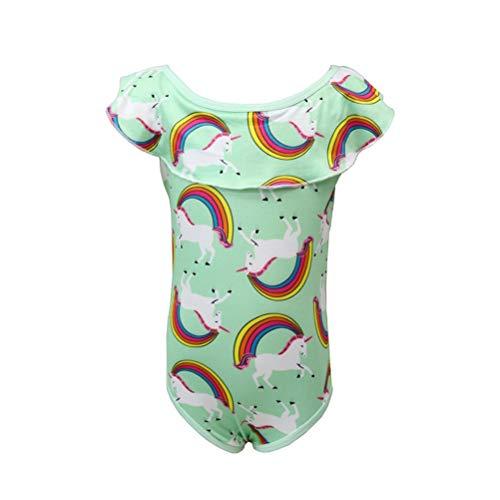 LUOEM Eenhoorn Badmode Bikinis Ruches Een Stuk Badkleding Badpakken voor Baby Meisjes - Maat M