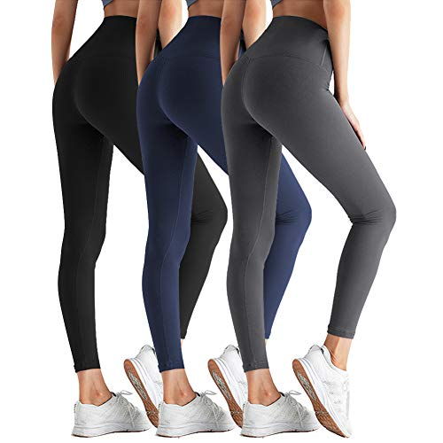 ZOOSIXX High Waisted Leggings for Women - Tummy Control Soft Athletic Slim Pants for Yoga Workout Running Cycling