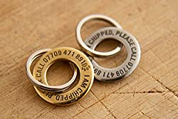 High quality personalised round dog/pet I.D. tag made from solid brass. Personalised engraved message on both sides with a deep, permanent engraving Guaranteed for the life of your pet. If the tag ever becomes unreadable we will replace it. Can inclu...