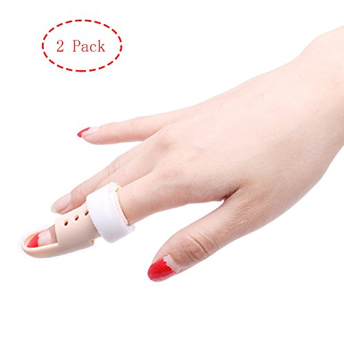 Thinvik [2 Piece] Plastic Mallet Dip Finger Support Brace Splint Joint Protection Injury - Knuckle 48-53mm