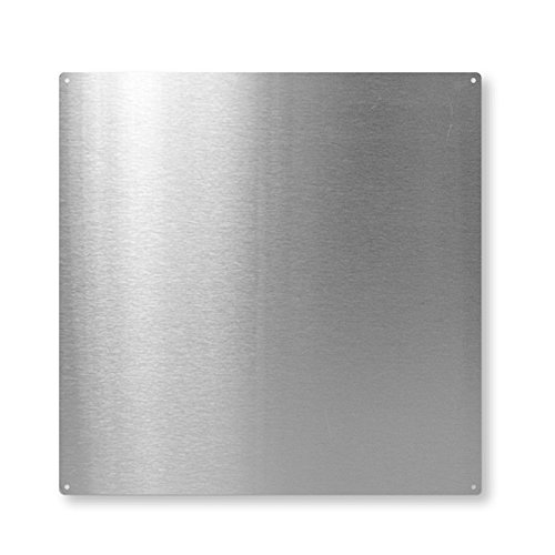 first4magnets™ Carré de Tableau magnétique c/o 10 aimants - INOX (400 x 400mm), Métal, Argent, 40 x 20 x 5 cm