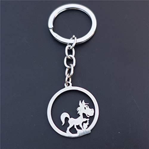 TAOZIAA kleine schommelende paard sleutelhanger roestvrij staal sleutelhangers tiener meisjes sieraden