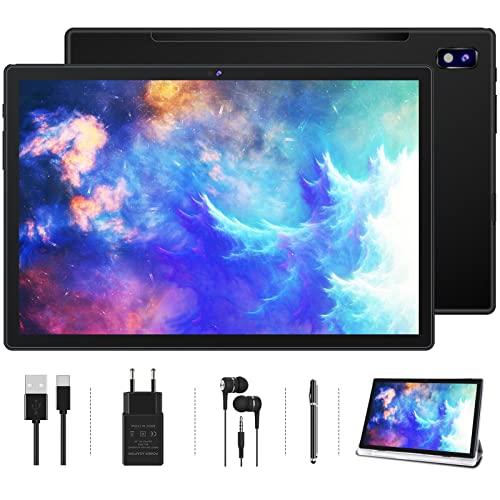Tablet 10.1 Pollici Oangcc Android 11 Certificato da Google GMS Tablets,4 GB di RAM e 64 GB(TF 128GB),8 Core,8000mAh Batteria | 5+8MP | Bluetooth 4.1 | GPS | Type C | WIFI Versione-Nero