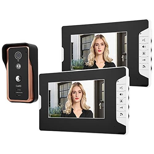 Cosiki Portero automático, Timbre con Video de Acceso, Oficinas para Apartamentos(US Standard (100-240v))
