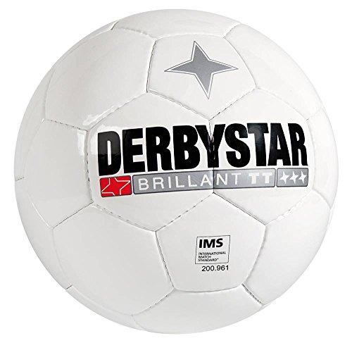 Derbystar 10er Ballpaket Brillant TT Fußball Größe 5 weiß weiß, Größe 5