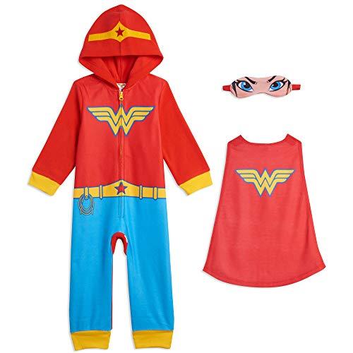 DC Comics Justice League Batgirl Supergirl Disfraz de mujer maravilla Mono de pijama - - 3 años