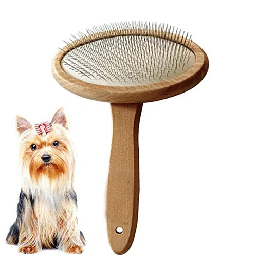 Bvnivcxzem Dog Grooming Brush Dog Brushes for Grooming Short Hair Flea Combs for Cats Dog Brushes for Long Haired Dogs Dog Grooming Tools