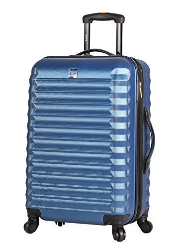 Lucas Treadlight Checked Luggage Collection - 28 Inch Scratch Resistant (ABS + PC) Hard Case Bag - Ultra Lightweight Expandable Large Suitcase With Rolling 4-Spinner Wheels
