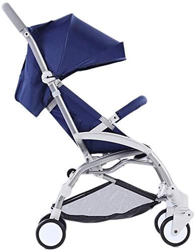 GAOTTINGSD Cochecito de bebé para niños, portátil, plegable, ligero, color azul
