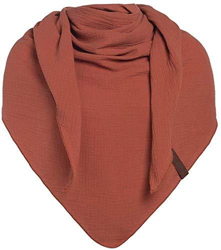 Knit Factory XXL driehoekige sjaal driehoekig sjaal sjaal omhangdoek katoen model LIV 190 cm x 85 cm