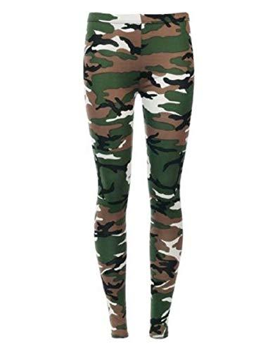 Islander Fashions Kinder M�dchen gedruckt d�nne L�nge Stretchy Hosen Leggings Hosen Camouflage 11-12 Jahre