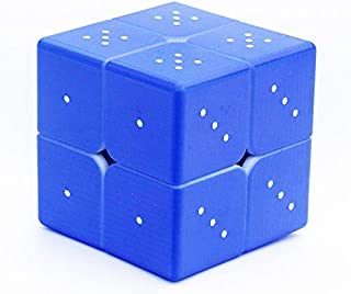 Speed Cube 2x2 3D Relief Effect Braille Magic Cube Puzzle,IQ Games Puzzle Special for Blind,Vision Weakness, 5cm