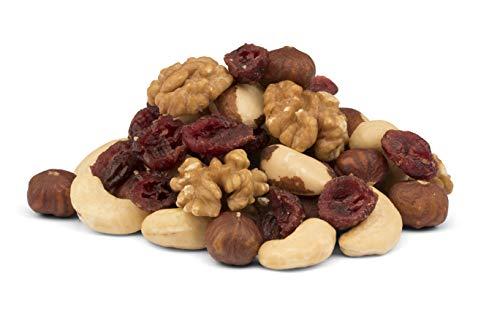 Mezcla de frutos secos orgánicos con arándanos – 1 kg – sin tostar y sin sal – sin pasas – crudos