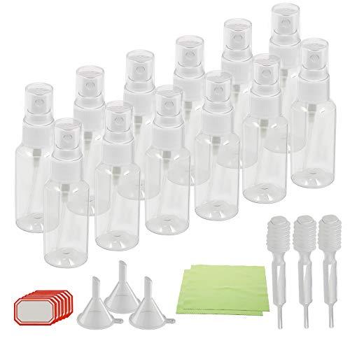 KAKOO 12 bottiglia a spruzzo in plastic flacone di nebulizzazione multiuso portatile per viaggio festa campeggio
