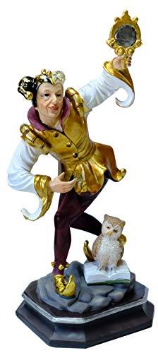 Kaltner Präsente Geschenkidee - Deko Figur Till Eulenspiegel aus Kunststein gefertigt und von Hand bemalt 31 cm hoch