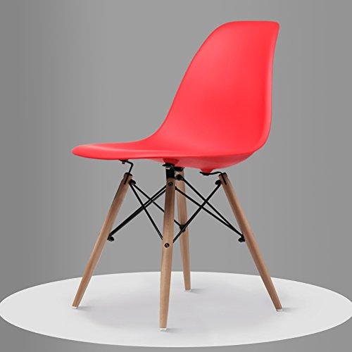 Chaise - Chaise simple moderne en bois massif, salon, chambre à coucher, chaise créative for salle à manger (taille 82X45 cm) Décoration d'intérieur (Color : Red)