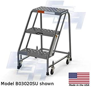 3 Step Rolling Ladder by EGA Products - No Hand Rails [Made in the USA]