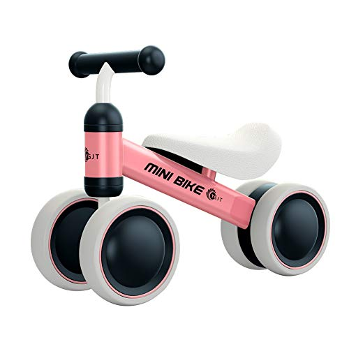YGJT Baby Balance Bike for 1 Year Old Baby Ride on Toys Baby Walker Push Bike First Gift for 10 months -2 Years Old Boys Girls (Pink)