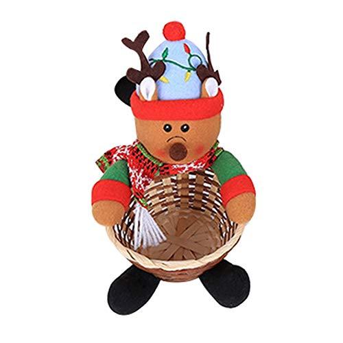 Goodtimera Candy Basket Kinder Weihnachtsdekoration Große Desktop-Dekoration Candy Basket Delightful Sweetie