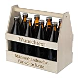 polar-effekt Porta-cerveza de madera – Bolso de mano para hombre – Producto natural auténtico – Porta-cerveza para 8 botellas – Idea de regalo personalizada para hombres – Diseño personalizable