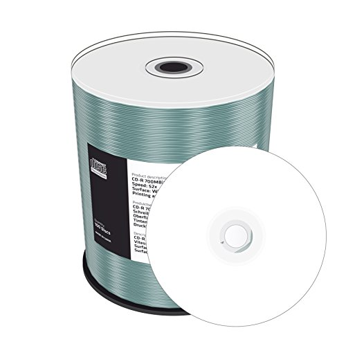100 CD-R vergini Mediarange MR203 printable stampabili da 700MB, 80Min