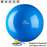 Black Mountain Products Static Strength Exercise Stability Ball with...