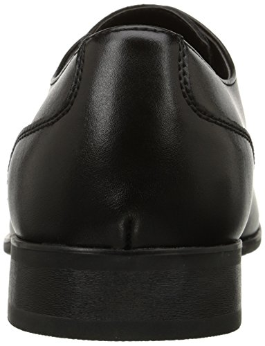 Calvin Klein Men's Brodie Oxford Shoe, Black Burnished Dress Calf, 9.5 M US