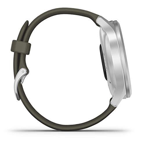 Garmin vívomove Style – stilvolle Hybrid-Smartwatch mit 2 brillanten AMOLED-Farbdisplays, Sport-Apps und Fitness-/Gesundheitsdaten, wasserdicht, 5 Tage Akkulaufzeit, Fitness Tracker, connected-GPS - 5