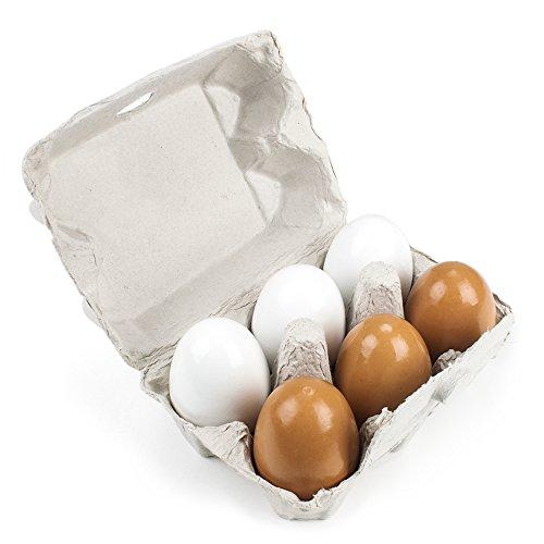 Imagination Generation Wood Eats! Eggcellent Eggs with Real Carton