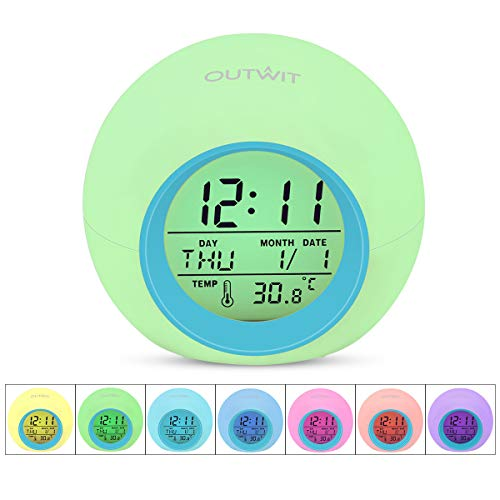 Outwit Kids Alarm Clock [Updated Version], Wake Up Digital Clock for Kids, 7...