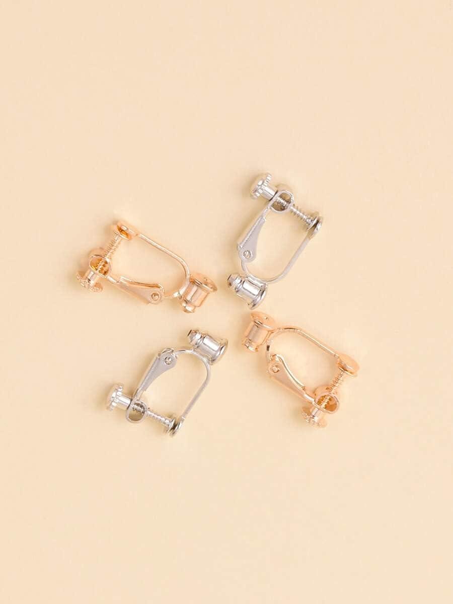 leonnn Hoop Earrings 2pairs Clip On Earring Converters (Color : Multicolor)