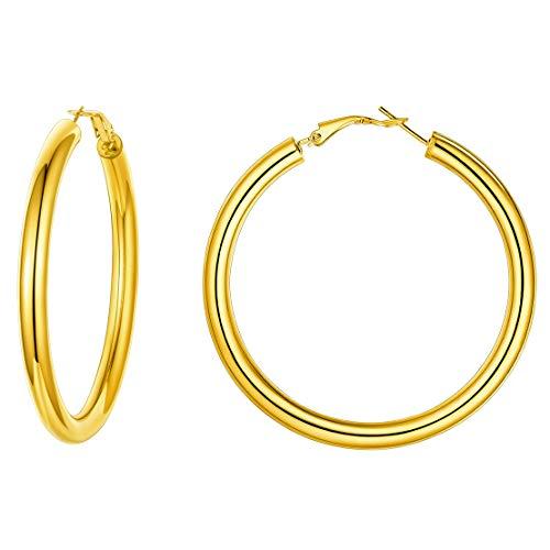 Pendientes 60MM aros oro grueso Mujer Cartilago Pendientes Aros dorados hoop
