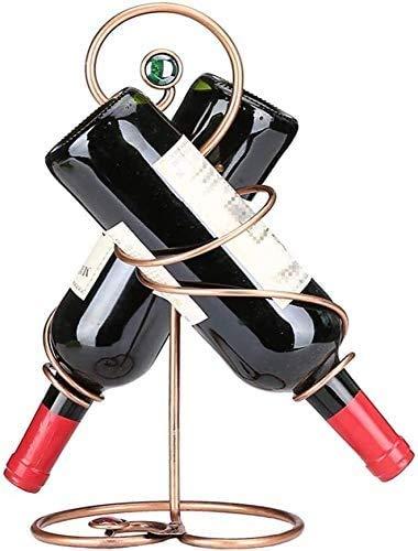 COLiJOL Alenamiento de Vino Decoración de Estante de Vino Botella Doble M de Vino Tinto M de Vino Creativo Alenamiento Fácil de Instalar