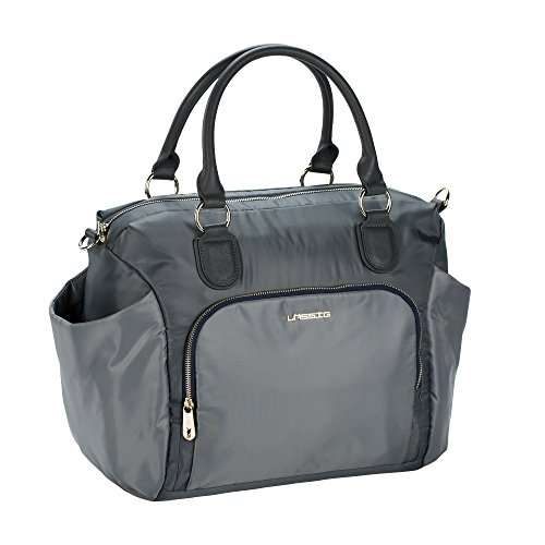 LÄSSIG Baby Wickeltasche groß Babytasche Stylische Tasche Kliniktasche inkl. Wickelzubehör/Gold Label Avenue Bag