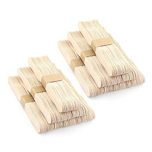 RIVERKING 300pcs,8',Craft Sticks,Wooden Fans Sticks,Handle Natural Paddle Fan Handles,Jumbo Auction Bid Paddles,Popsicle Sticks for Wedding Programs,DIY,Crafts,Paint Mixing
