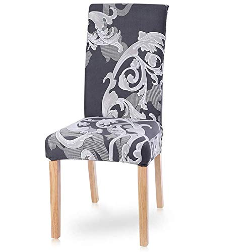 PLDYJ Stuhlabdeckung Moderne Esszimmerstuhl Cover Spandex Stretchstuhlabdeckung Esszimmer Stuhlabdeckung Stretch Chair Cover Hotel Bankett (Color : Huangjiafengfan, Specification : 2pcs)