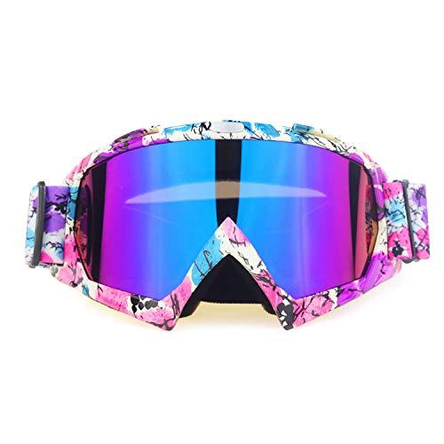 BAIAA Skibrille, Blendschutz Skibrille Winddichter UV400 Schutz Zum Radfahren Motorrad Schneemobil Skibrille, Wintersport Schutzbrille (A)