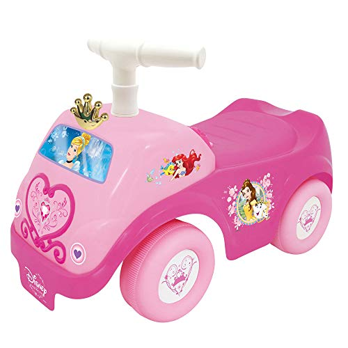 Kiddieland 058370 Disney Princess Lights N#039 Sound Kids Toddler Battery Powered Activity Ride On Push Car Toy and Batteries Pink
