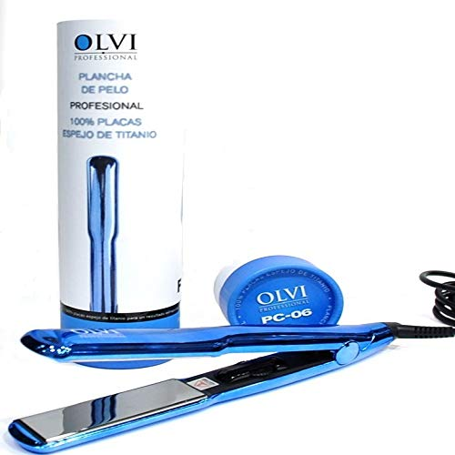 Plancha de pelo profesional placas de titanium espejo PC-06 Olvi