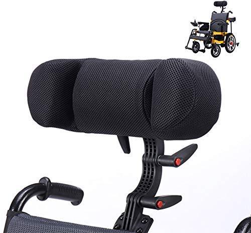 Reposacabezas de la silla de ruedas Soporte para el cuello Almohada cómoda del cojín del respaldo del asiento, tamaño ajustable alto y bajo,elástica universal de la PU de la silla de ruedas eléctrica