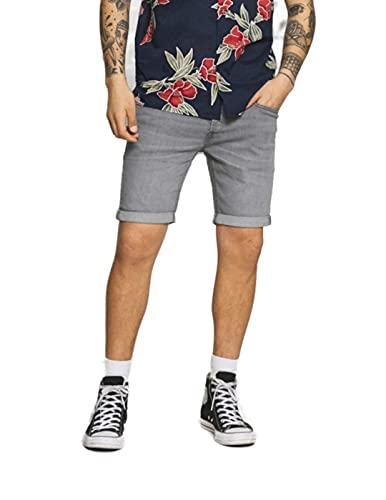 Jack & Jones JJIRICK Jjoriginal Shorts AGI 003 Pantalones Cortos de Jean, Grey Denim, S para Hombre