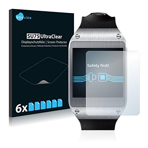 Savvies 6X Schutzfolie kompatibel mit Samsung Galaxy Gear V700 Displayschutz-Folie Ultra-transparent