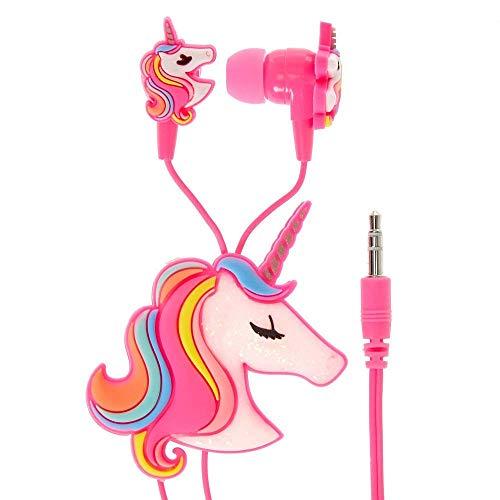 Supplybel Unicorn Cartoon Wired Earphones Gamer Music Stereo Earbuds Outdoor Headphones for Kids Children Toddler Girl Birthday Return Gift(Random Color)
