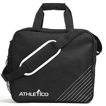Athletico Essential Bowling Bag - Single Ball Bowling Tote Bag with Padded Bowling Ball Holder  Black