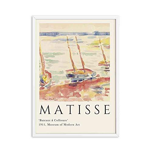 Henri Matisse carteles e impresiones retro paisaje abstracto arte de la pared retro hogar sin marco lienzo decorativo pintura B 40x60cm