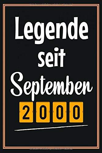 Legende seit September 2000: Geschenkideen jungs mädchen geburtstag 20 jahre, Geburtstagsgeschenk für Bruder Schwester Freunde, Notizbuch a5 liniert softcover