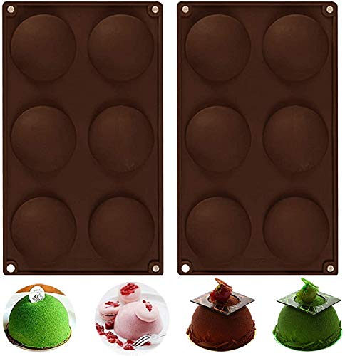 6 Holes Chocolate Making Silicone Mold Half Round